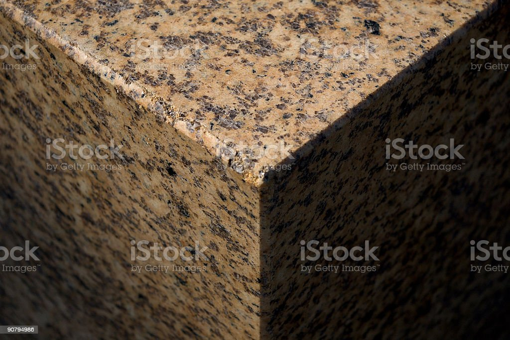 granite cube  fragment stock photo