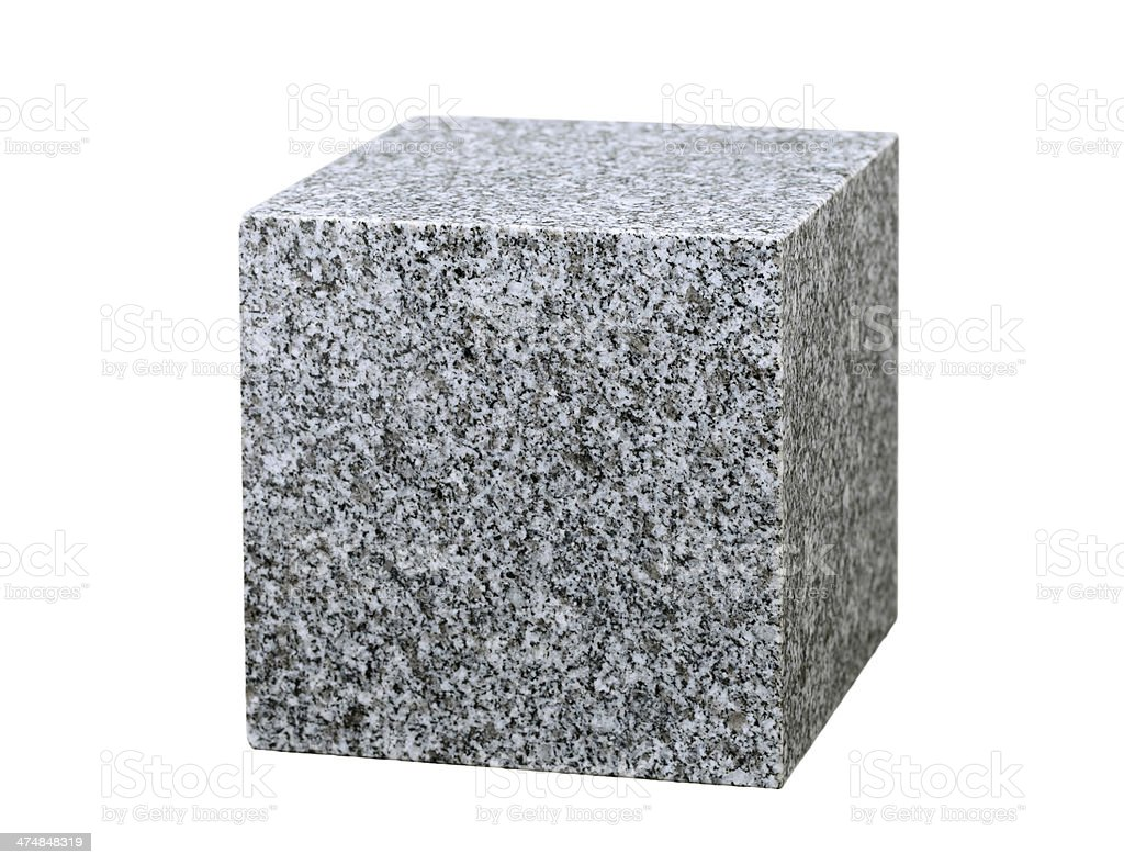 granite cube stock photo