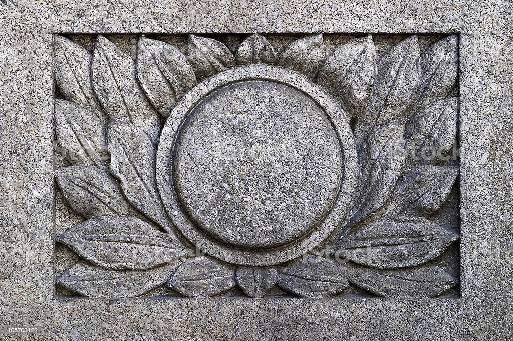 granite engraved royalty-free stock photo