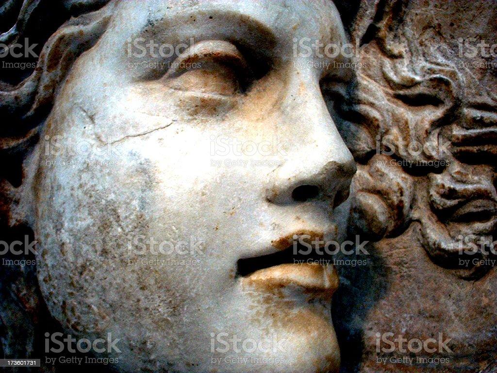 Granite face stock photo