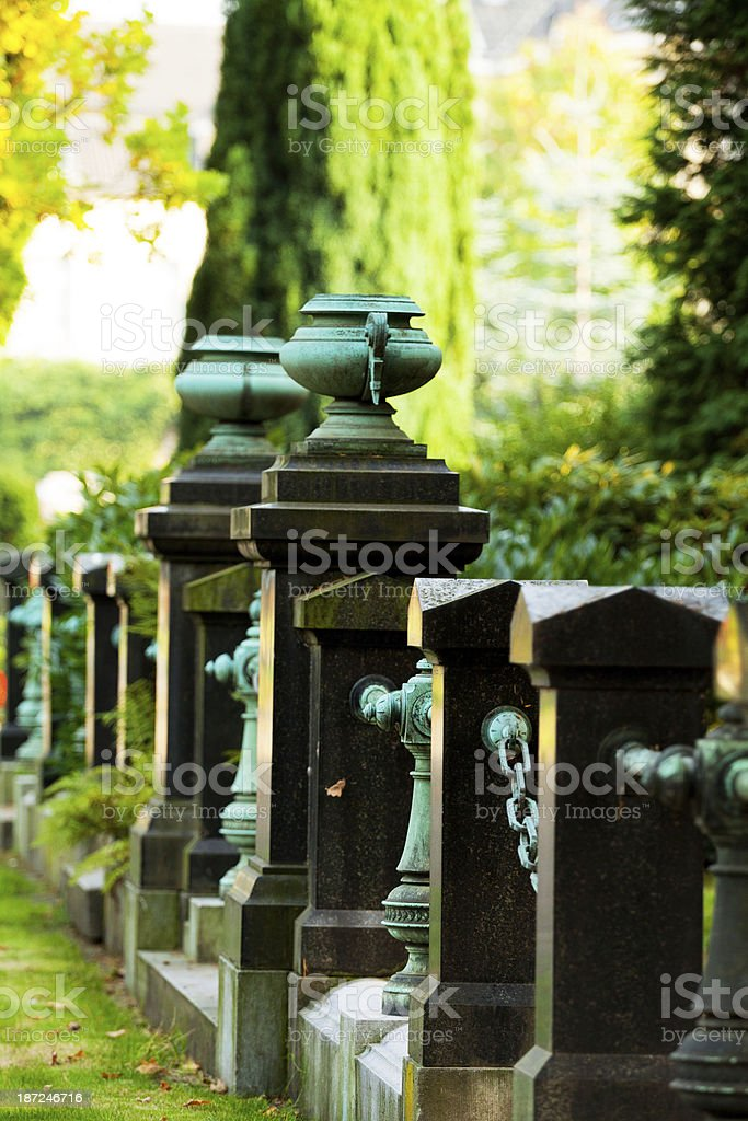 Granite fence royalty-free stock photo