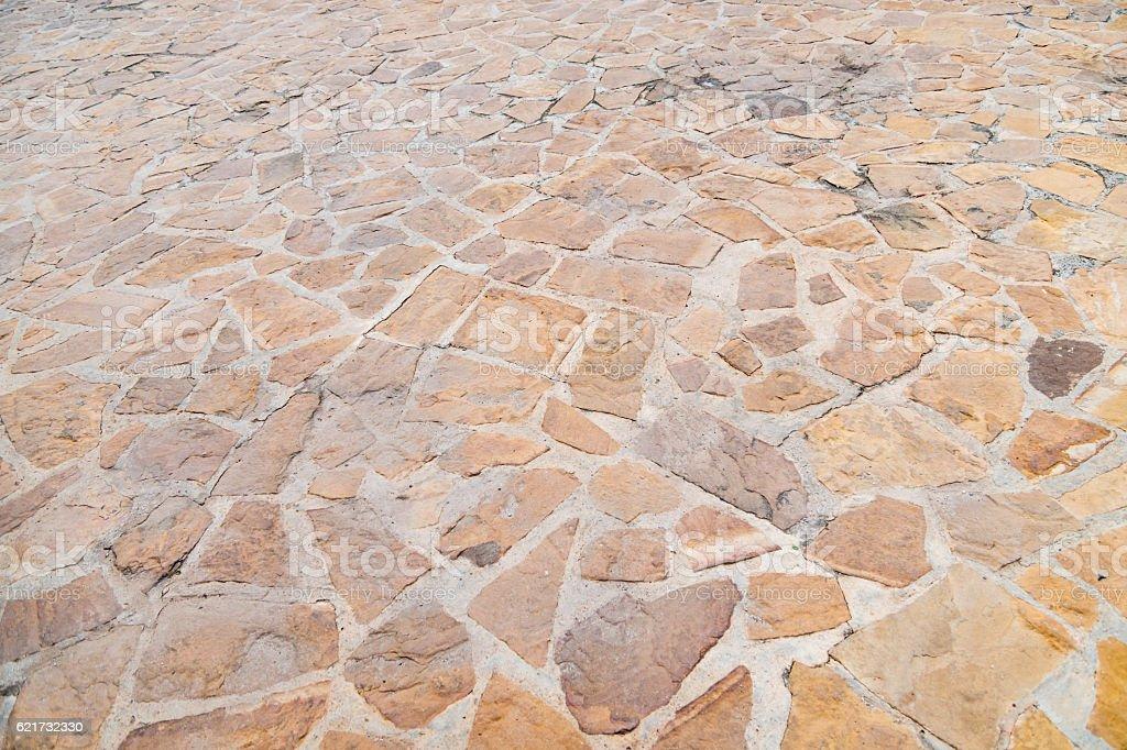 Granite gray flagstone pavement wall background stock photo