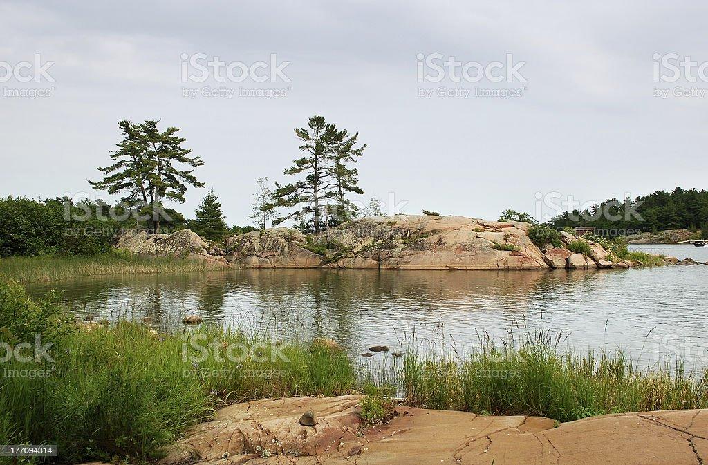 Granite Island stock photo