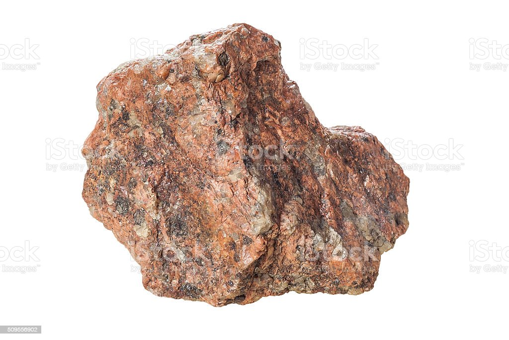 granite on a white background. stock photo
