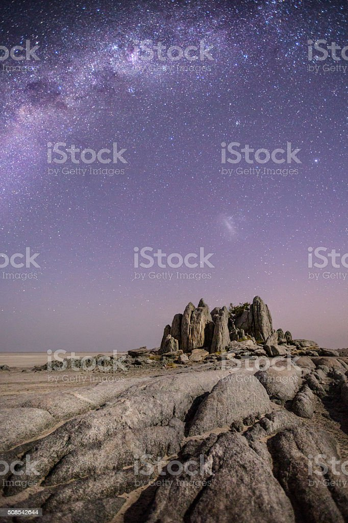 Granite outcrop on Kubu Island stock photo