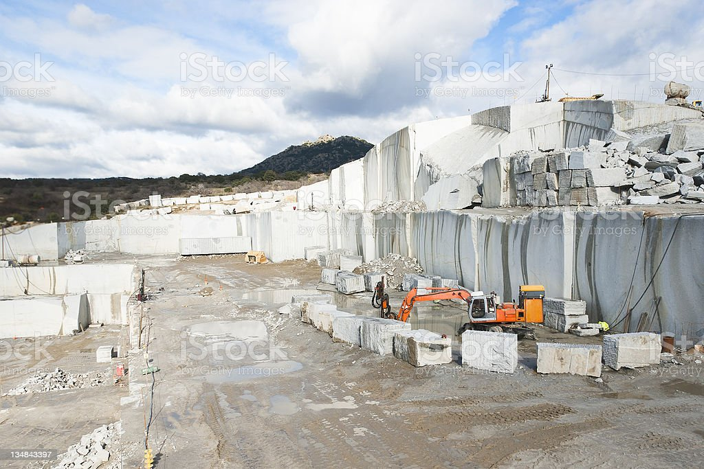 granite quarry royalty-free stock photo