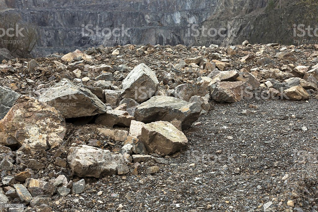Granite Quarry stock photo
