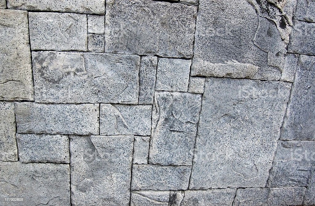 granite rock blocks in geometric pattern stock photo