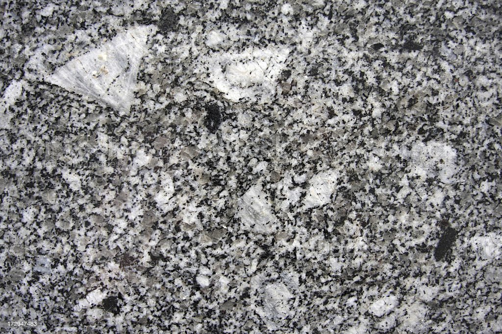 Granite rock section stock photo