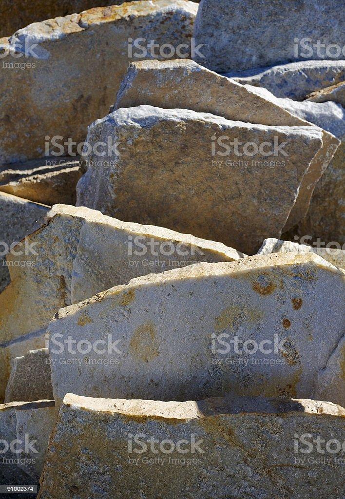 Granite Slab Chunks stock photo