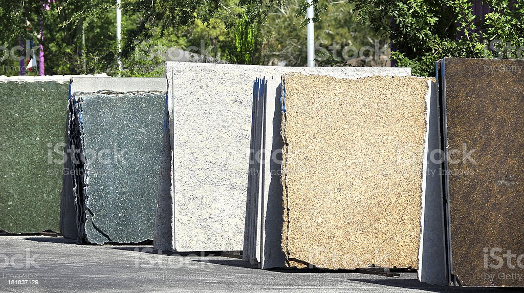 granite slabs stock photo