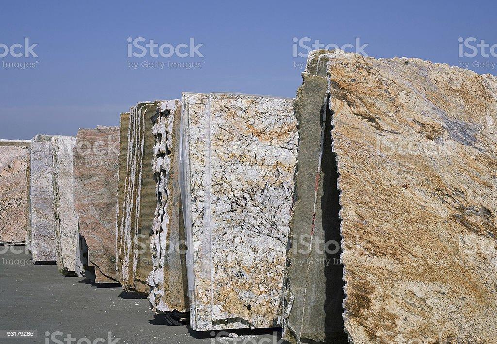 Granite Slabs Row stock photo
