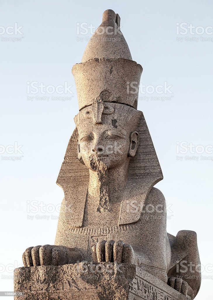 Granite sphinx ancient monument in St.Petersburg, Russia royalty-free stock photo