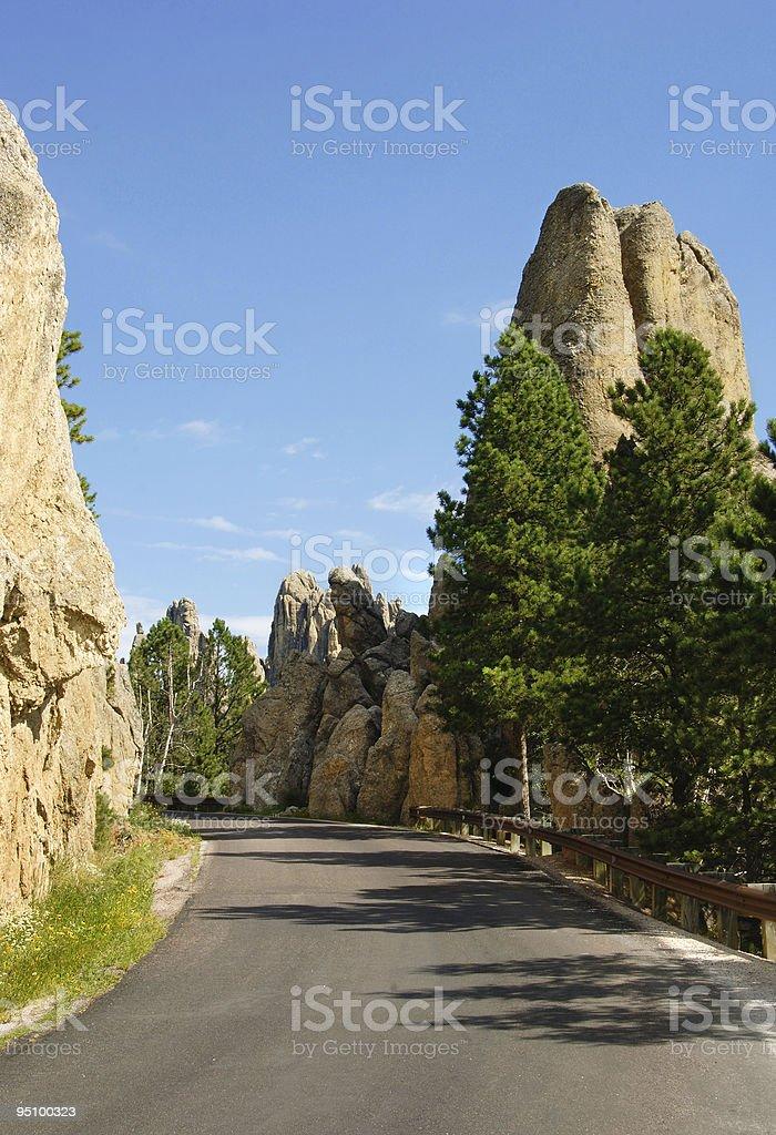 Granite Spires along Needles Highway royalty-free stock photo
