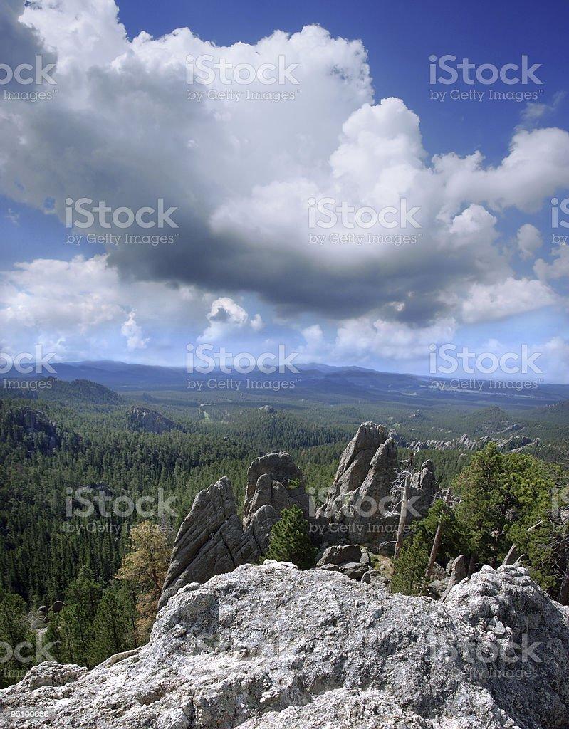 Granite Spires in the Black Hills of South Dakota royalty-free stock photo
