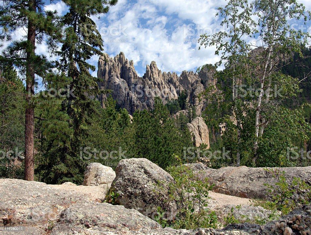 Granite Spires in the South Dakota Black Hills stock photo