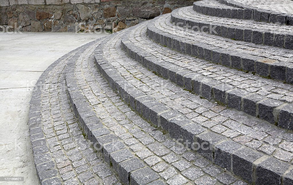 Granite Stairway royalty-free stock photo