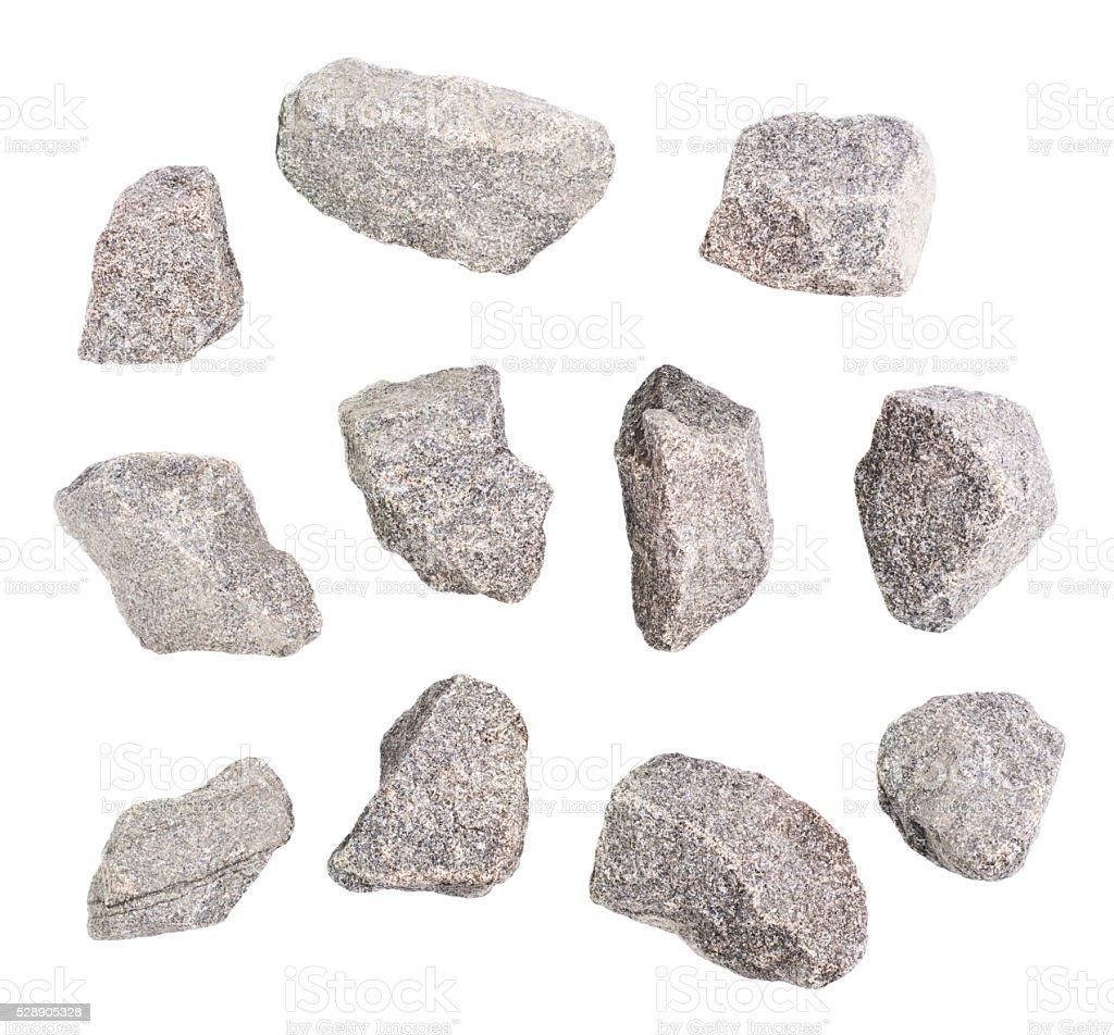 Granite stone isolated stock photo