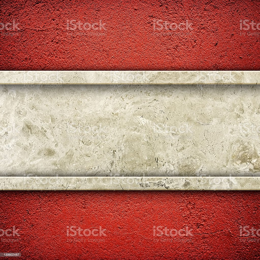 granite stone on red wall royalty-free stock photo