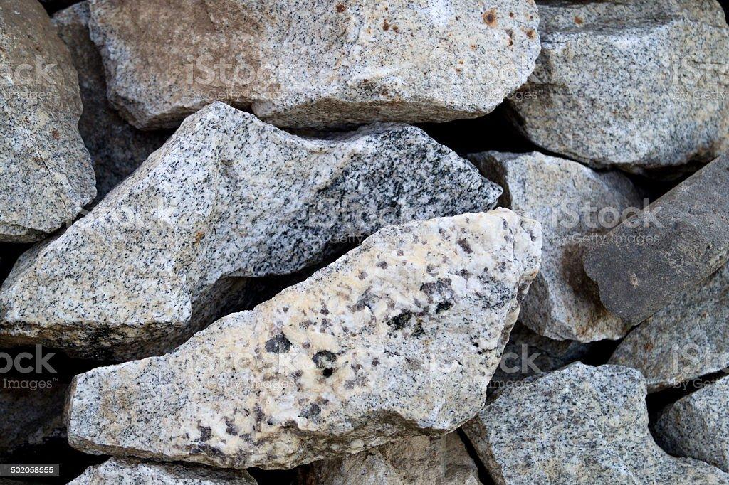 Granite. Stone. stock photo