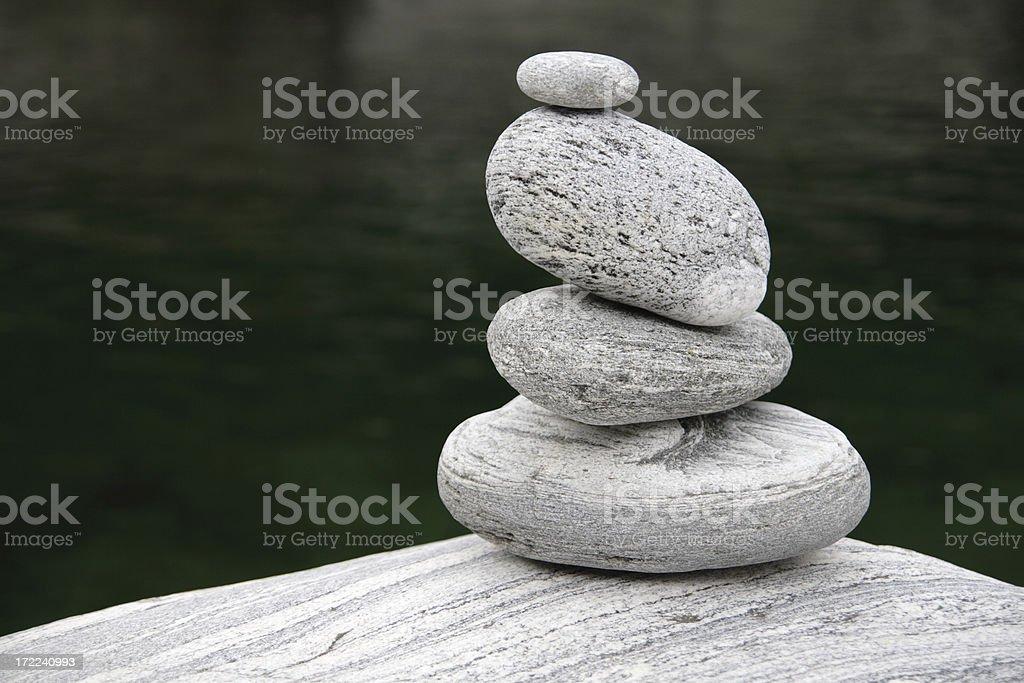 Granite Stone Tower stock photo