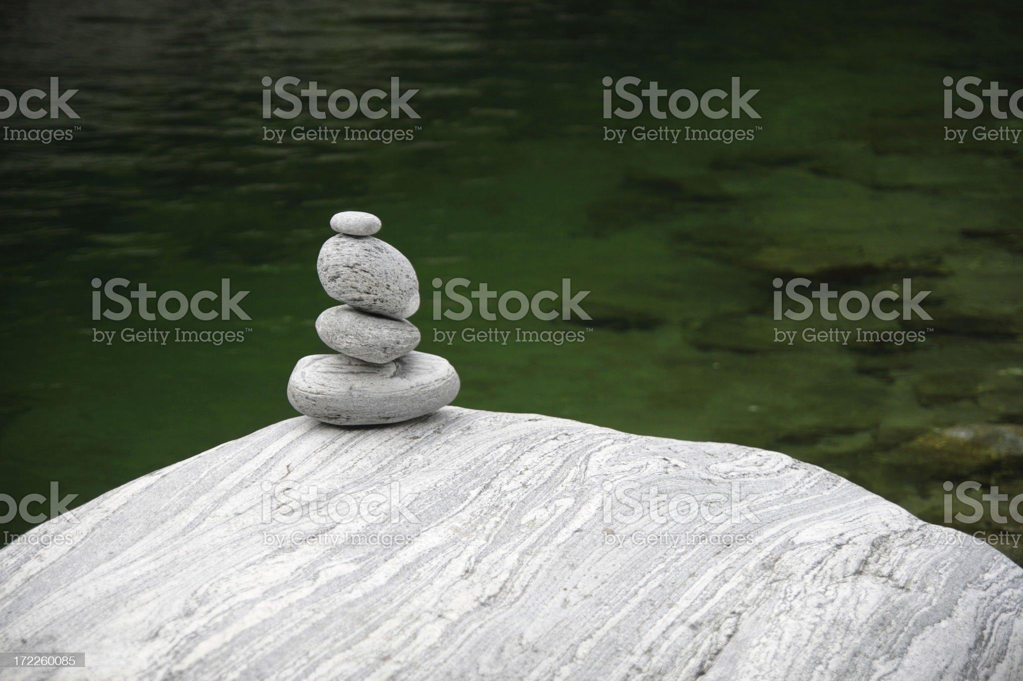 Granite Stone Tower royalty-free stock photo