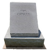 Granite Time Capsule with Copy Space