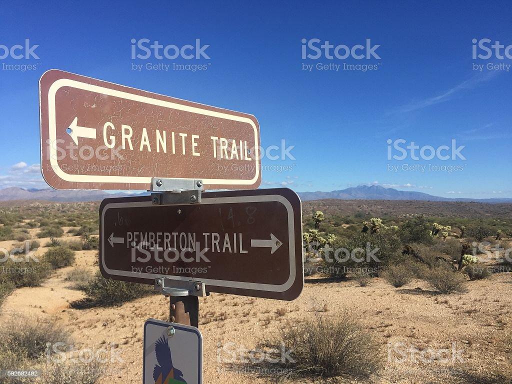 Granite Trail, Arizona stock photo