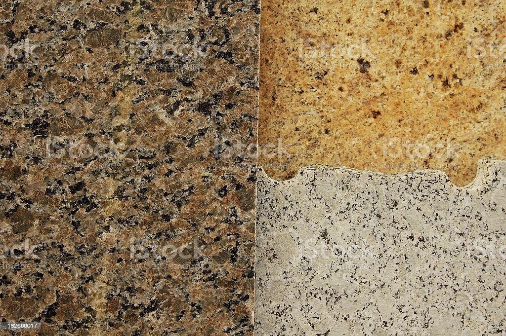 Granite trio stock photo