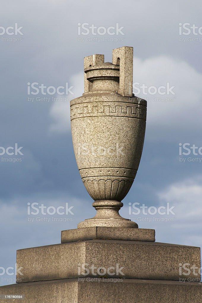 Granite urn royalty-free stock photo
