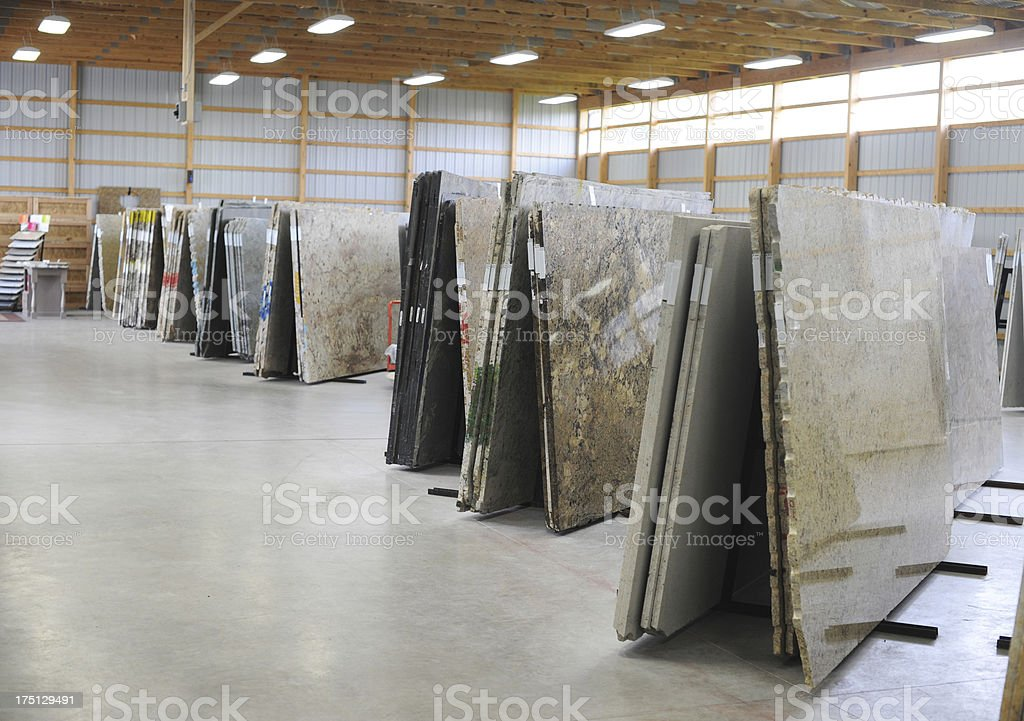 Granite Warehouse stock photo