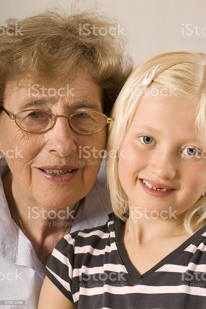 Granma and me royalty-free stock photo