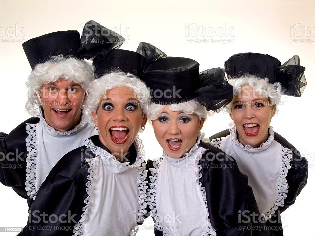 grannies royalty-free stock photo