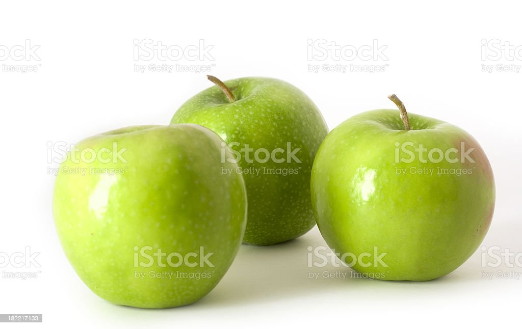 Granny Smith Apple isolated on white stock photo