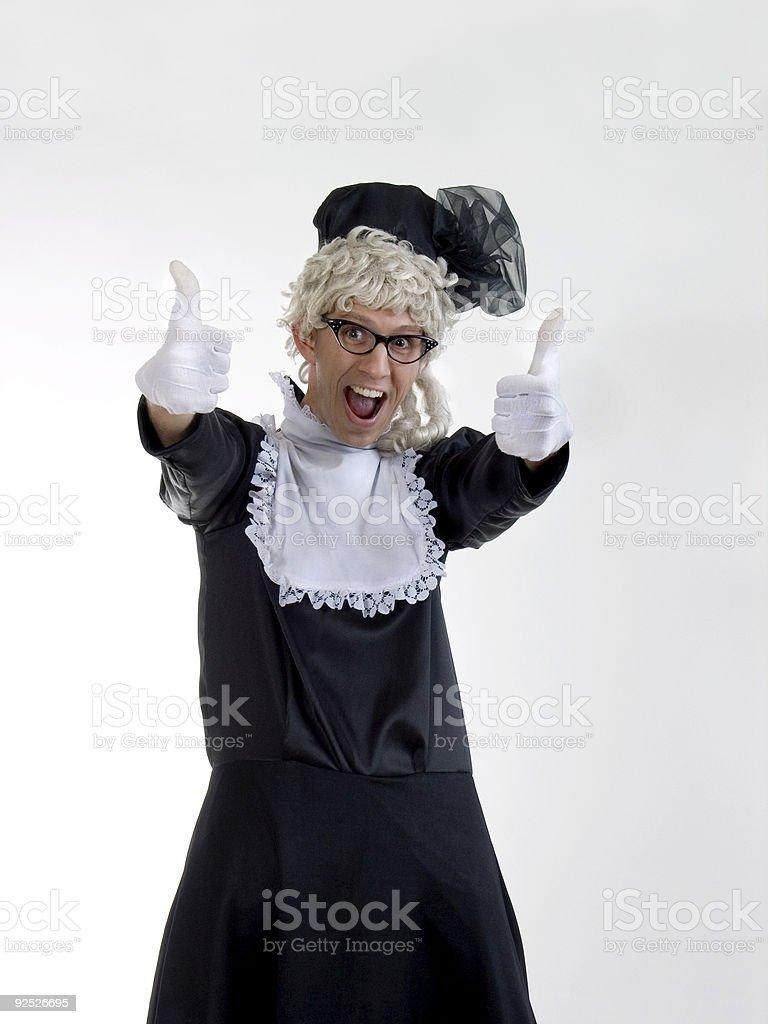 Granny vote stock photo