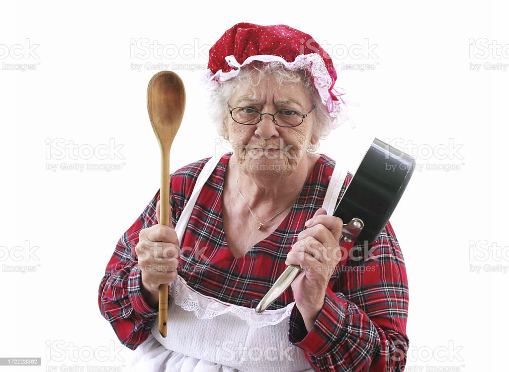 Granny's Cooking royalty-free stock photo