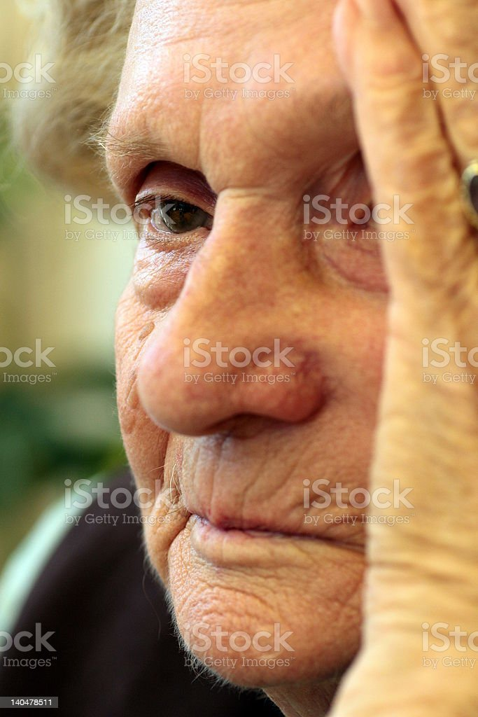 Granny's Headache royalty-free stock photo