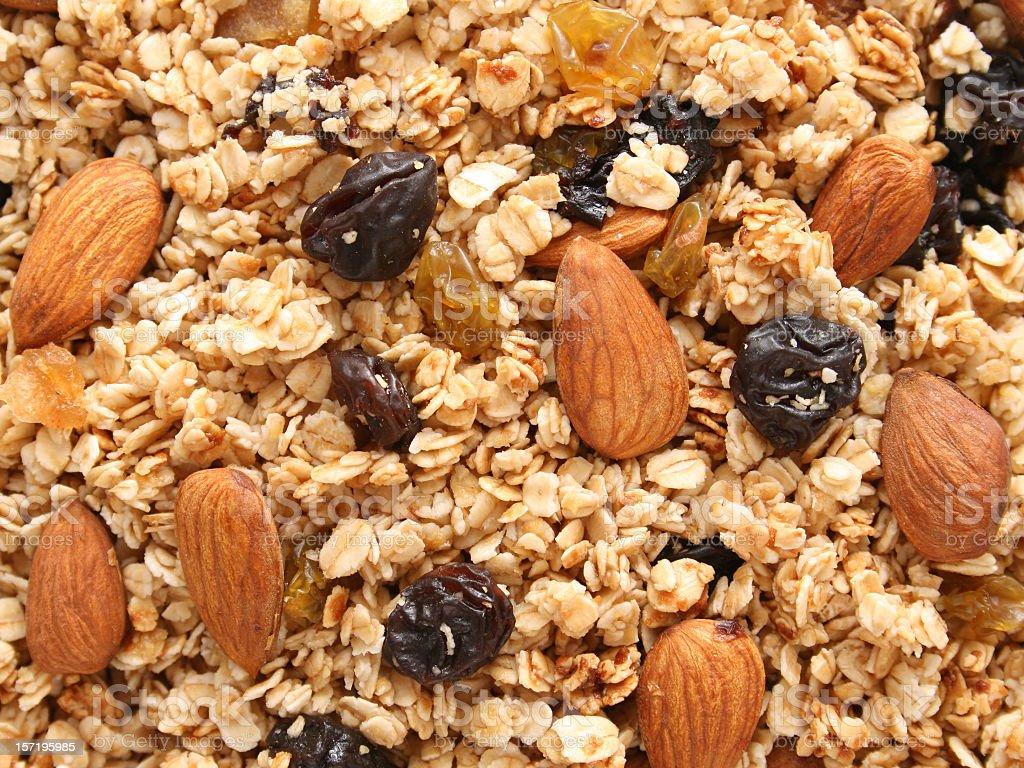 Granola background stock photo