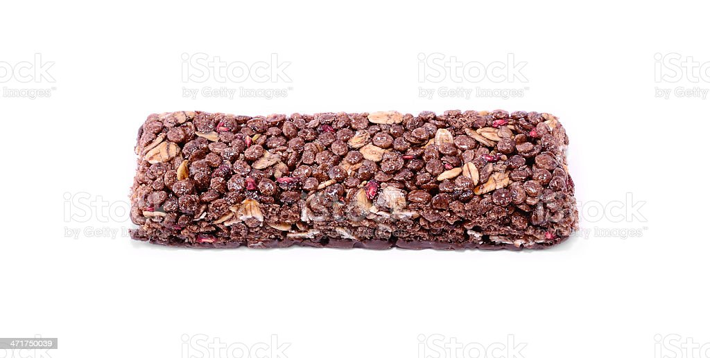 Granola bar isolates on white background royalty-free stock photo