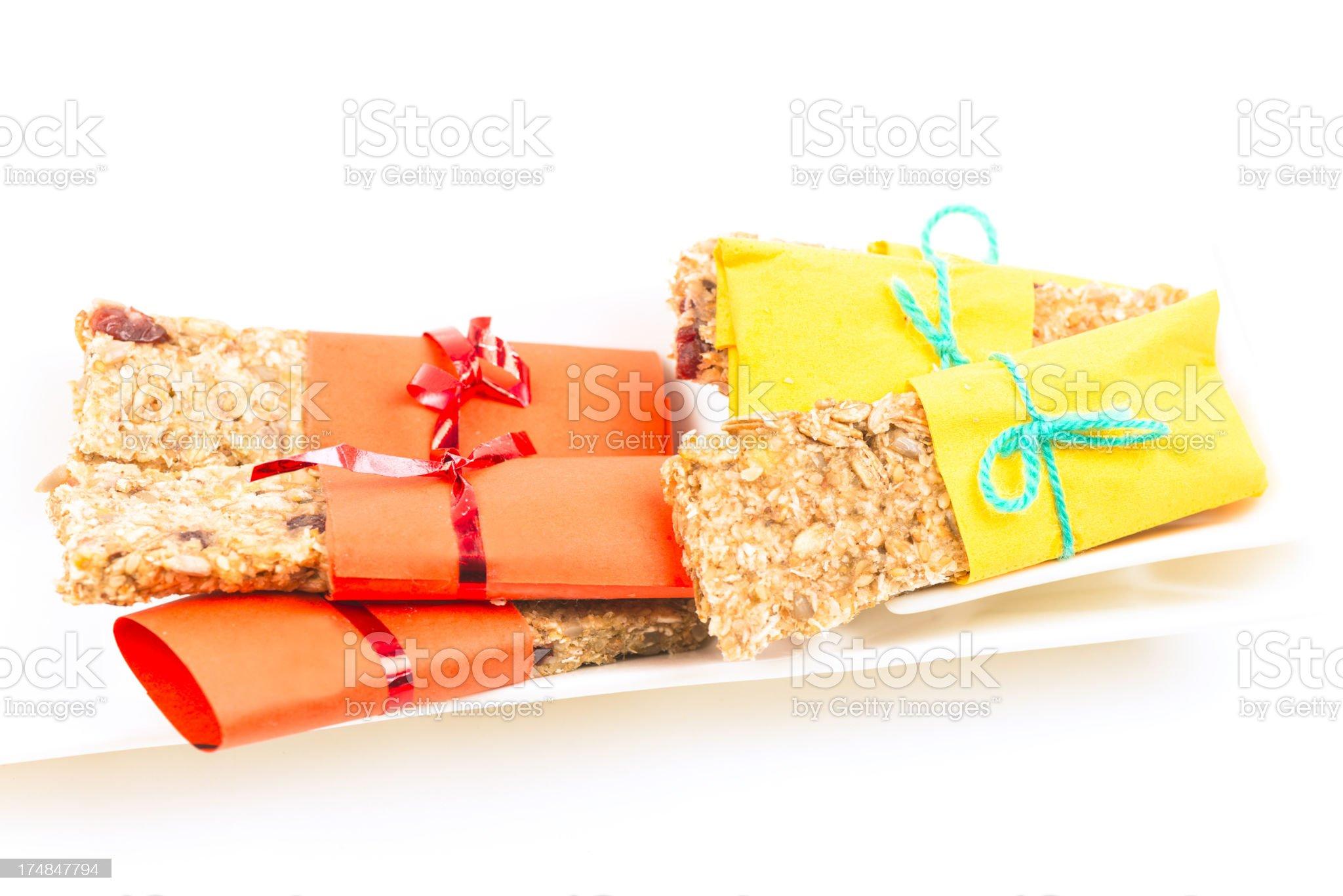 Granola bars royalty-free stock photo