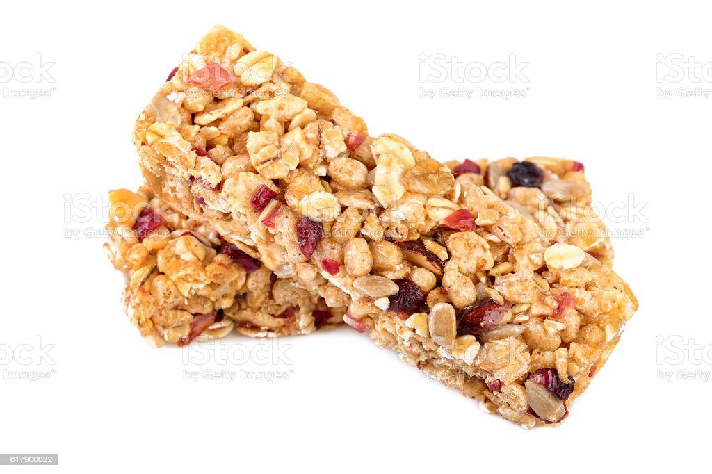 Granola muesli bars stock photo
