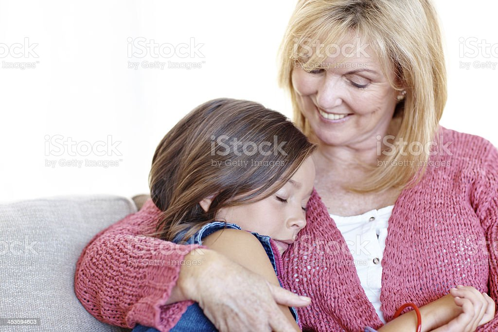 Gran's the best! royalty-free stock photo