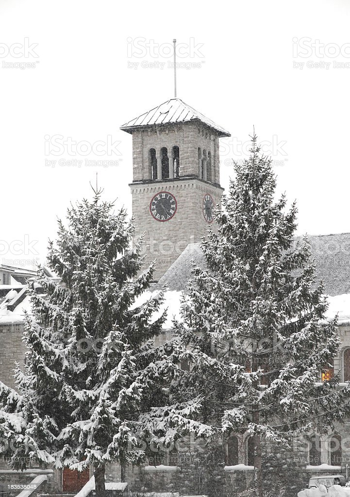 Grant Hall, Queen's University Kingston royalty-free stock photo