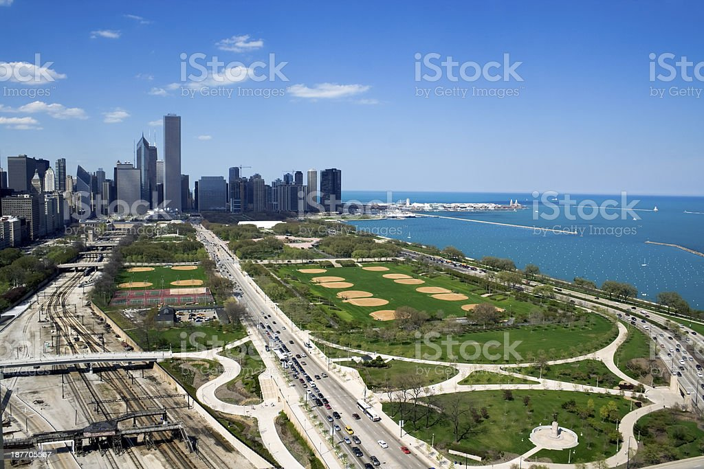 Grant Park in Chicago stock photo