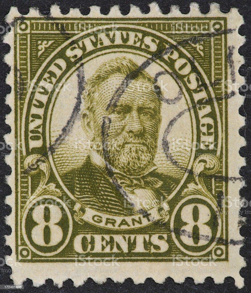 Grant postage stamp 1922 stock photo