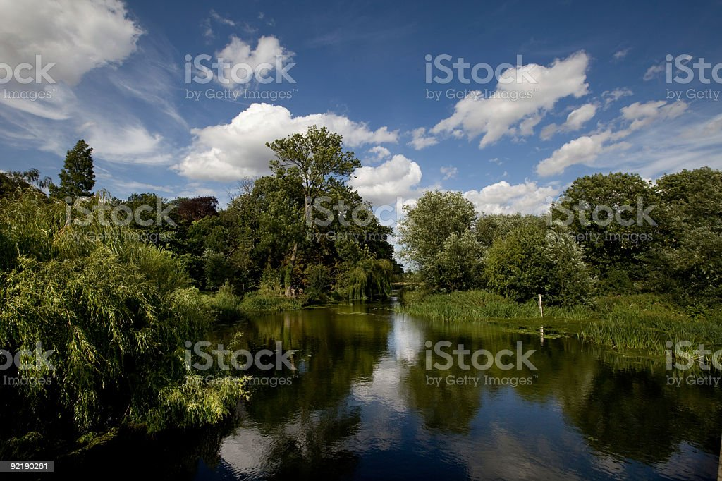 Grantchester Mill Pond royalty-free stock photo