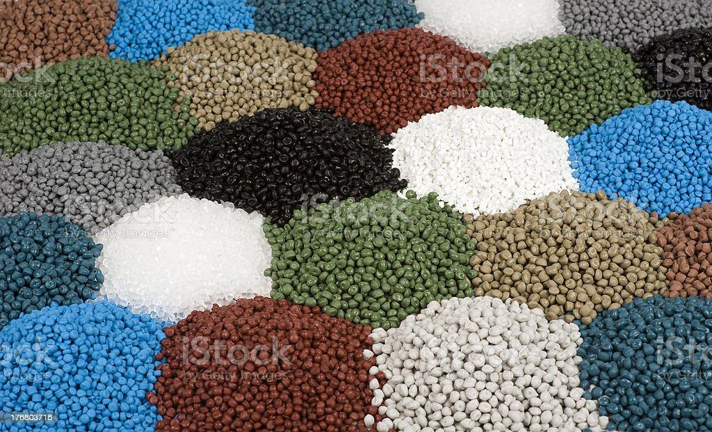 Granulate from Polyethylen stock photo