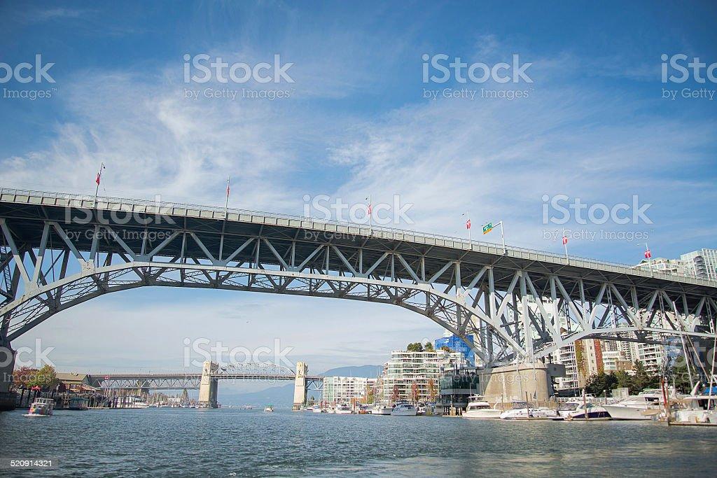 Granville Bridge Vancouver BC stock photo