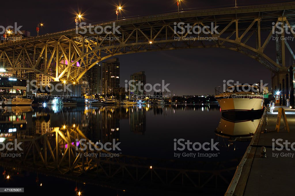 Granville Island Dock, Vancouver Twilight royalty-free stock photo