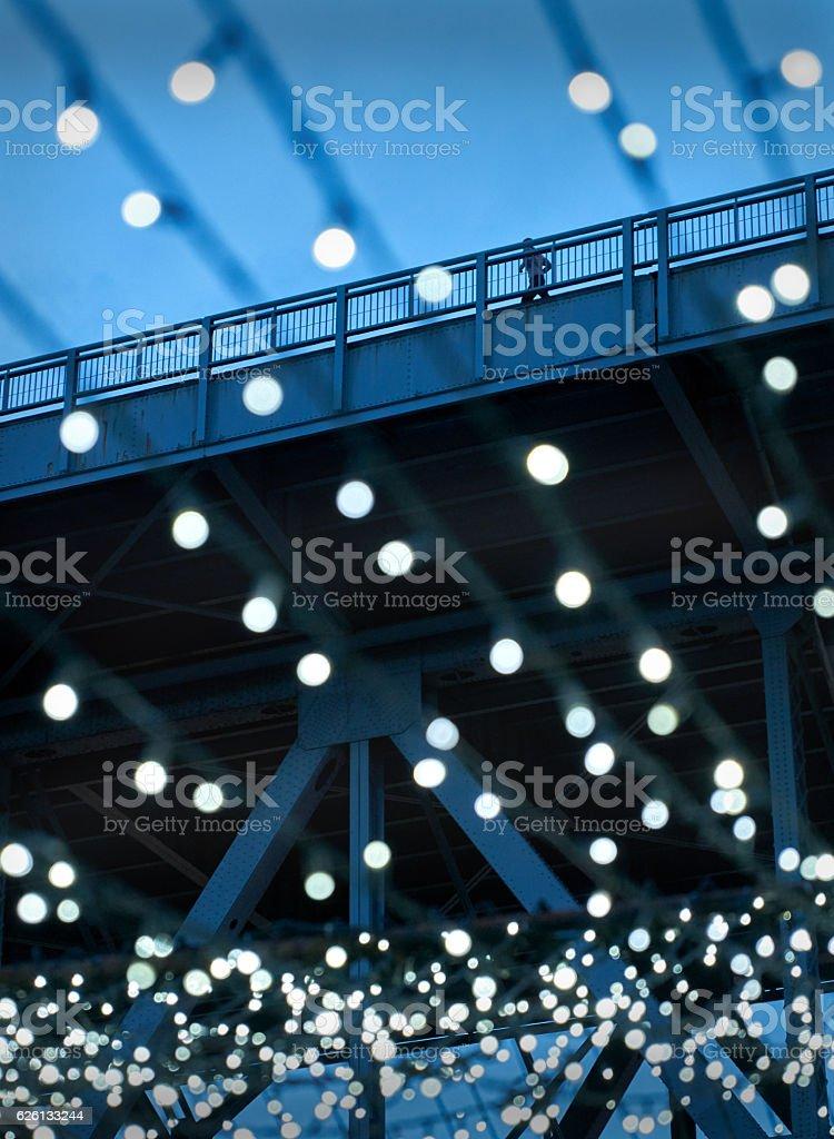 Granville Island Lights stock photo